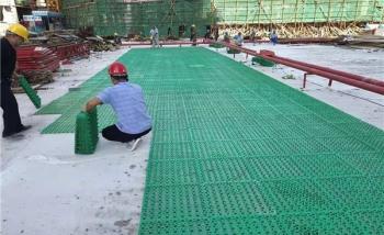 无锡3公分绿色蓄排水板施工案例